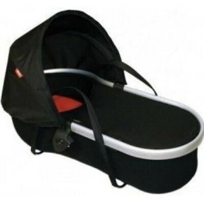New Phil & Teds Peanut Carrycot For Vibe Inline Buggy- Black/ Red - Fast Post