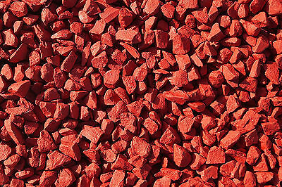 Chilli Red Decorative Garden Stone Gravel Chippings Decor Landscaping Materials