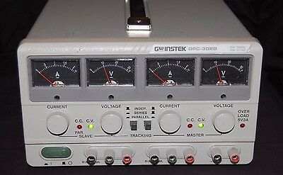 GW INSTEK GPC-3020 Laboratory DC Power Supply Dual Tracking with 5V/3A Fixed