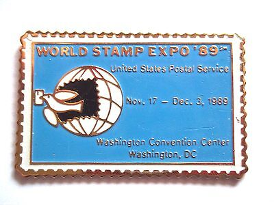 Pins pin's timbre World stamp expo 89 United States Postal Service Washington
