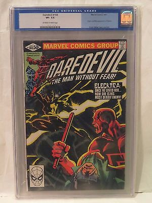 Daredevil #168 CGC 7.5 1st and origin of Elektra. Cents/US edition.