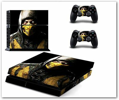 Motal kombat Skin Sticker Sony PS4 Playstation 4 Console & 2 Control Skins