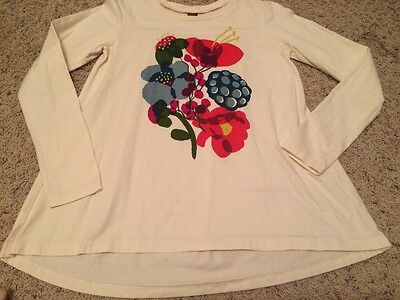 Tea Collection Girls Boutique long Sleeve T-shirt Clothes Size 12 EUC