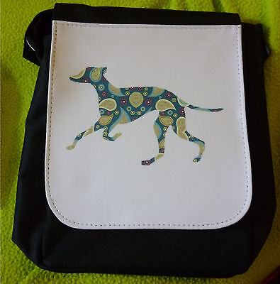 Greyhound Whippet Dog Bag Shoulder Bags Handbags Paisley takes Ipad Mini