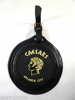 Ceasars Atlantic City Leather Golf ID Tag Luggage Tag