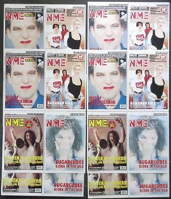 THE CURE Sugarcubes BANANARAMA NME Promo Postcards 1990s Original Issue Pop Rock