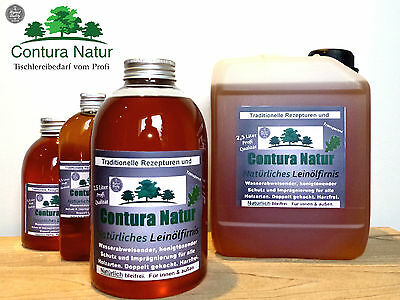 NATURAL Wood protection LEINöL- FIRNIS Wood oil Linseed oil varnish wood