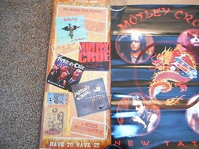 "LOT of  2 ""Motley Crue"" Promo Posters"
