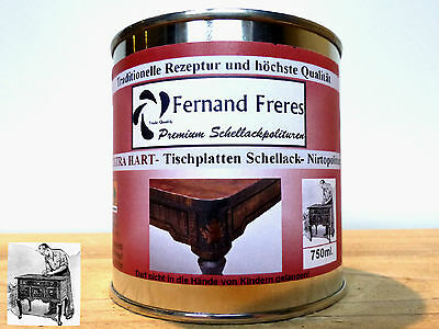 Extra- Shellac Hard paint Table top Varnish Counter 21,3€/L High glossy