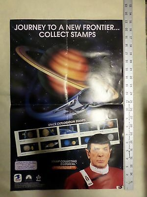 USPS Space Exploration SPOCK counter display AND POSTER HTF - RARE
