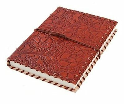 HANDMADE EMBOSSED Vintage Planner Notebook Retro LEATHER DIARY JOURNAL