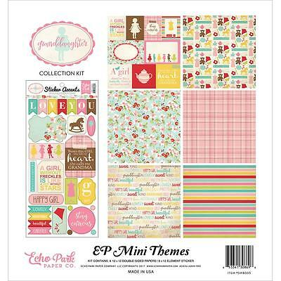 Scrapbooking Crafts 12X12 Paper Kit EP Granddaughter Toys Pink Plaid Blossoms