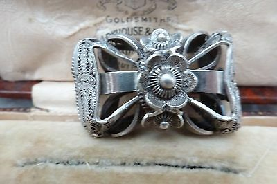 Antique Jewellery -  Beautiful Victorian Solid Silver Openwire Bow Shaped Brooch