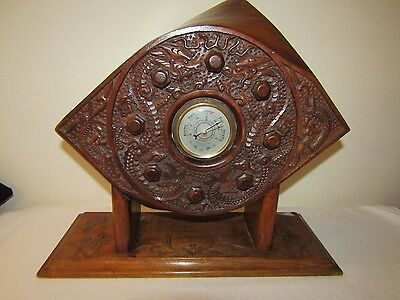 WW1 Trench ART RFC Propeller Boss Barometer with Carved Oriental Dragons RARE
