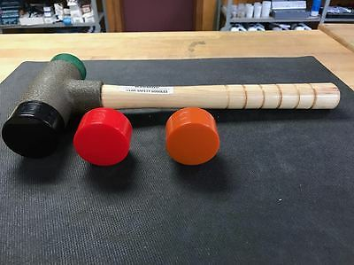 """Lixie Deadblow  Hammer  2""""  200H-MH   Med-Hard Face, And A 2"""" Tough & Soft Face"""