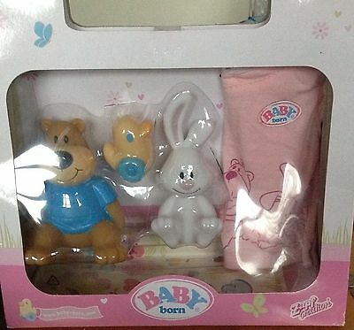 Baby Born Clothes  Bear & Bunny Outfit with Toys