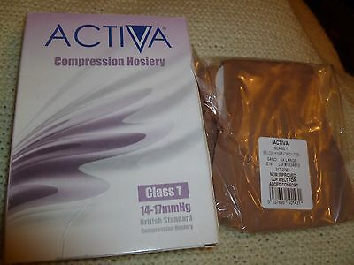 New Boxed Activa Compression Hosiery Below Knee/open Toe Sand Xxl
