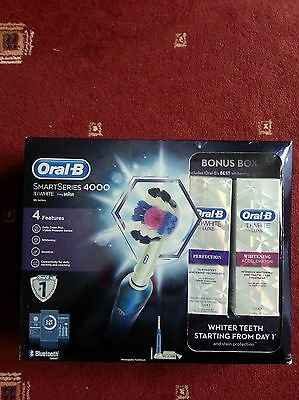 Oral-B Smart Series 4000 Electric Rechargeable Toothbrush 3D White & Toothpaste