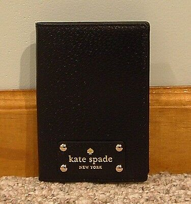 NWT Kate Spade Wellesley Passport Holder Black/Black WLRU1236