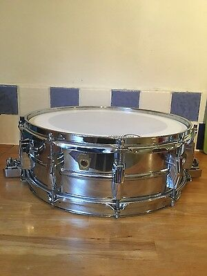 Ludwig Chrome On Brass Supersensitive snare drum 1962