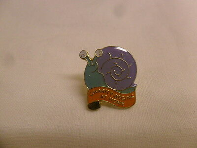carity pin badge snail
