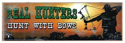 Real Hunters Rustic Wall Sign Plaque Gifts Men Hunting Archery Bowhunting Bows