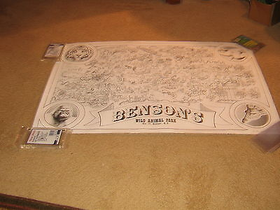 "Vintage 70""s Benson""s Wild Animal Coloring Map"