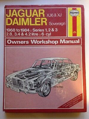 Haynes Jaguar Daimler 1968-1984 Xj6 Owners Workshop Manual