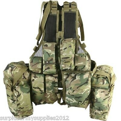 South African Assault Vest Mtp Padded Webbing Army Airsoft Paintballing Btp Camo