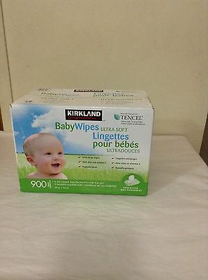 New Kirkland Signature Unscented Baby Wipes Ultra Soft 900 Wipes