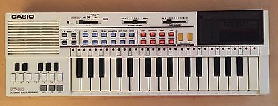 CASIO PT-80 Music keyboard 1980's working with ROM card rare retro vintage