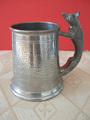 Civic Pewter Tankard Toby Jug Hunting Foxhunting Scenes Horse & Hounds