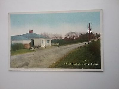 1918 Lochinvar Printed Postcard of The Old Toll Bar Gretna Green Dumfriesshire
