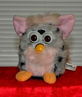 Furby Full Sized 1998  Grey Leopard Working Interactive Toy