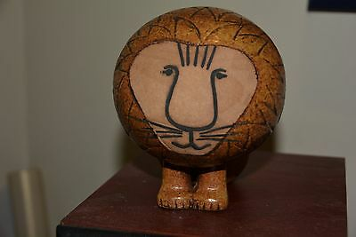 Gustavsberg Stoneware Pottery Lion By Lisa Larson In Excellent Used Condition