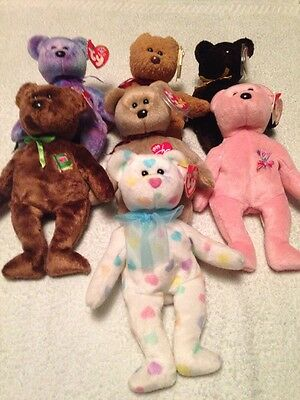 Job Lot Collection TY BEANIE BEAR TEDDY ALL WITH TAGS