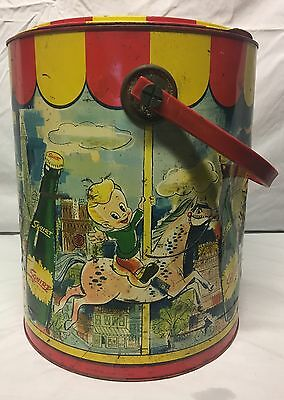Vintage Squirt Boy Merry Go Round Horse Carousel Ice Soda Advertising Cooler