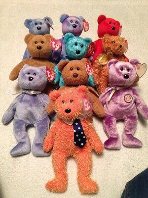 Job Lot TY BEANIE BEAR TEDDY ALL WITH TAGS COLLECTION