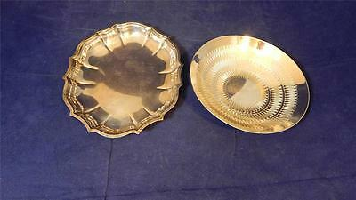 VTG International Silver Chippendale Silver Plated Bowl & WMF EP Brass Bowl EUC