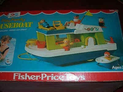 Vintage Fisher Price Little People Houseboar in Box -Nice Condition