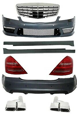 Mercedes W221 S63 AMG Body Kit Bumper Side skirts Grill Exhaust LED Tail Lights