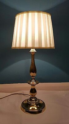 Antique Large C1910 Edwardian Brass Table Lamp. Fully Rewired PAT tested
