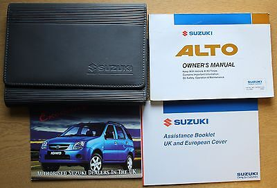 Suzuki Alto Owners Manual Handbook Wallet 2002-2006 Pack # 7755