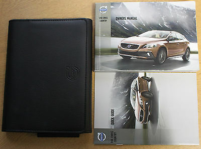 Volvo V40 Cross Country Handbook Owners Manual And Wallet 2013-2016 Pack 12867