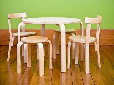Kiddicare children wooden table and 2 chairs