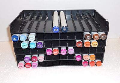 Crafters Companion Spectrum Noir, COPIC, LETRASET Storage trays. 6 holds 72