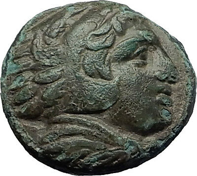 ALEXANDER III the GREAT 323BC Hercules Club Macedonia Ancient Greek Coin i59165