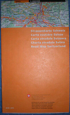 National Road Map Switzerland, by Federal Office Topography, Swisstopo (2011)