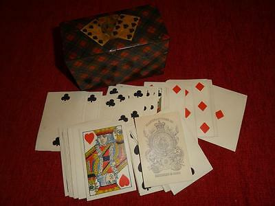 ANTIQUE PLAYING CARDS REYNOLDS & SONS in Mc PHERSON TARTAN WARE BOX