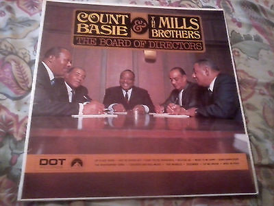 Count Basie & The Mills Brothers The Board Of Directors 1968 Dot Vinyl Lp